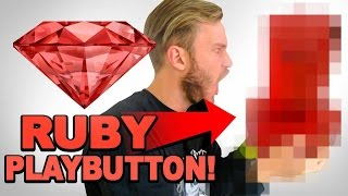 THE RUBY PLAYBUTTON / YouTube 50 Mil Sub Reward Unbox