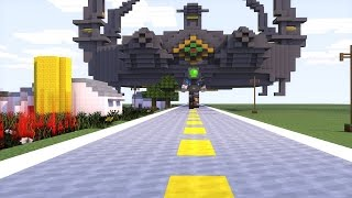 getlinkyoutube.com-Minecraft Transformers: Optimus prime vs Galvatron Transformers Age of Extinction Animation