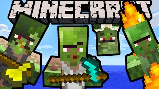 getlinkyoutube.com-Minecraft 1.9 Snapshot: Weapon Balance, New Zombie Villager Skins, Hoe Nerfs, Combat Update Changes