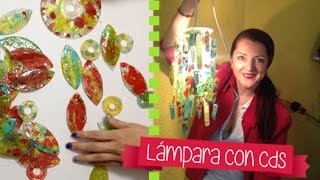 getlinkyoutube.com-Chuladas Creativas :: Lampara con Cds :: Reciclando Cds
