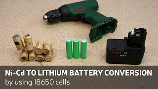 getlinkyoutube.com-DIY: Ni-Cd To Lithium Battery Conversion By Using 18650 Cells