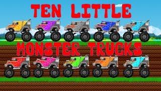 getlinkyoutube.com-Ten Little Monster Trucks