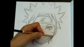 getlinkyoutube.com-How To Draw Naruto (Face and Head)