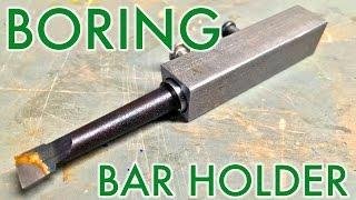 getlinkyoutube.com-Mini Lathe: How to make a Boring Tool Holder