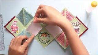 getlinkyoutube.com-How to make a folding christmas card | Cách làm thiệp giáng sinh độc đáo