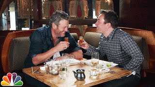 Jimmy Fallon Makes Blake Shelton Try Sushi width=