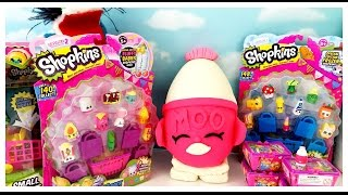 getlinkyoutube.com-GIANT SHOPKINS Play Doh Surprise Egg Limited Edition Hunt Season 2 12 Packs Blind Baskets