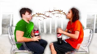 getlinkyoutube.com-COKE & MENTOS TRY NOT TO LAUGH CHALLENGE! w/ Robust