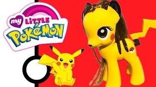 getlinkyoutube.com-Custom PIKACHU PONY Pokemon + My Little Pony Style Crossover Mashup Tutorial