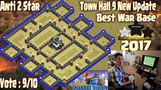 getlinkyoutube.com-Th9 war base anti 2 star 2017. Town Hall 9 New Update Clash Of Clans Coc