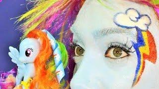 getlinkyoutube.com-My Little Pony Rainbow Dash Makyajı - UmiKids Makyaj Videoları