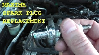 getlinkyoutube.com-Nissan Maxima / Infiniti Spark Plug Replacement with Basic Hand Tools HD