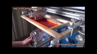 How To Hot Stamping On Glass Bottles,GLass Bottle Hot Stamping Machine