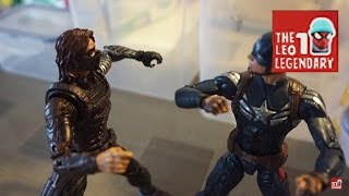 getlinkyoutube.com-Captain America & Hawkeye vs Winter Soldier (Stop-Motion Film)