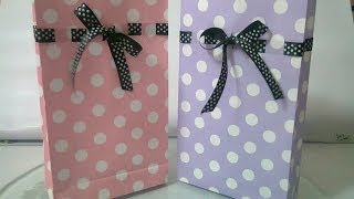 getlinkyoutube.com-DIY : #5 Cute Paper Bags For Gift ♥