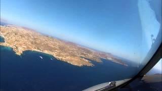 getlinkyoutube.com-Mykonos LGMK landing gusty 22-33kts