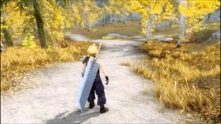 getlinkyoutube.com-Skyrim Soldier 1st Class Cloud Strife - Final Fantasy 7 MOD HD