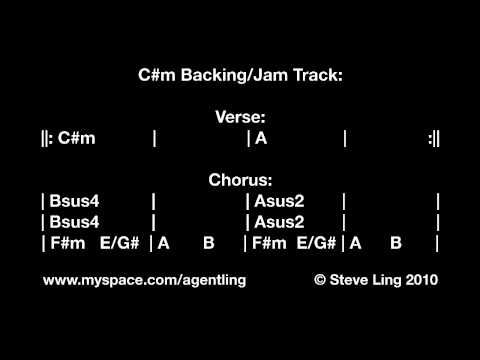Steve Ling / Agent Ling - C#m Backing/Jam Track for Guitar