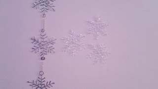 getlinkyoutube.com-Christmas Decoration ideas - Hot Glue Snowflakes