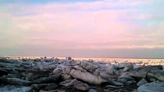 Icebreak on the Lena River in Yakutia, Siberia/Russia. May 16th, 2012.
