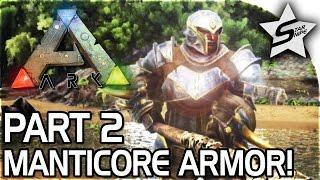 getlinkyoutube.com-FULL MANTICORE ARMOR, BASE BUILD UP!! - ARK Survival Evolved PS4 PRO GAMEPLAY Part 2