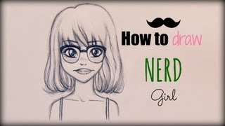 getlinkyoutube.com-How to Draw a Nerd Girl  - Come disegnare una ragazza con gli occhiali (tutorial)