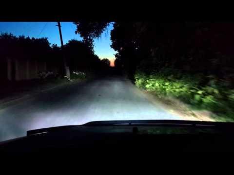 Как светит ксенон ночью Chery Tiggo