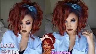getlinkyoutube.com-Maquillaje y look estilo RIHANNA / RedHead makeup tutorial   auroramakeup