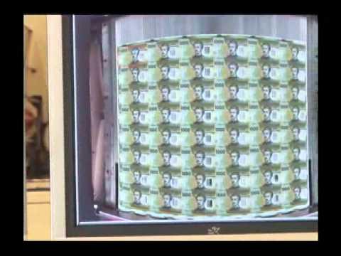 Fabricación billete de 1000 pesos de Chile