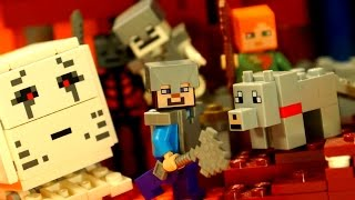 getlinkyoutube.com-Lego Minecraft Movie. Мультфильм Лего Майнкрафт. Lego Minecraft Animation Stop Motion by KokaTube