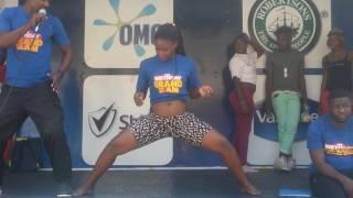 Zambian girl amusing shoprite customers