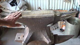 getlinkyoutube.com-Blacksmithing -  Restoring An Old Peter Wright Anvil