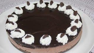 getlinkyoutube.com-تشيز كيك بالشوكولاتة بدون فرن chocolate cheese cake without oven و بدون جيلاتين
