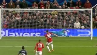 getlinkyoutube.com-Manchester United vs Olympiakos 3-0 (Robin van Persie Hat-trick) UEFA C.L. 19.03.2014