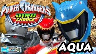 getlinkyoutube.com-Power Rangers Dino Charge DINO DIG - New Aqua and Graphite Rangers DETAILS.
