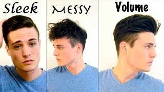 getlinkyoutube.com-Mens Hair: 3 Different Styles