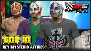 getlinkyoutube.com-WWE 2K15 - Top 10 Rey Mysterio Attires - WWE Top 10