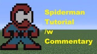 getlinkyoutube.com-Minecraft Pixel Art: Spiderman Tutorial *Remake*