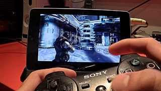 getlinkyoutube.com-Nexus 7 Shadowgun: Deadzone multiplayer sixaxis ps3 controller