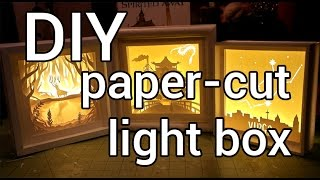 getlinkyoutube.com-How to Make a Paper-cut Light Box : DIY