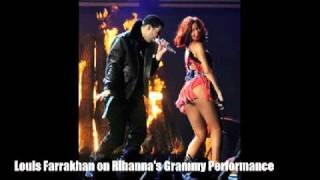 getlinkyoutube.com-Farrakhan Blasts Rihanna's Grammy Performance