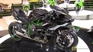 getlinkyoutube.com-2015 Kawasaki Ninja H2 R - Walkaround - Debut at 2014 EICMA Milan Motorcycle Exhibition