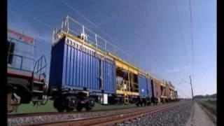 getlinkyoutube.com-Colas Rail Catenary Installation Paris-Strasbourg HSR Line