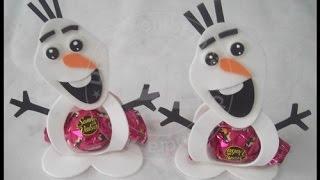 getlinkyoutube.com-como fazer porta bombom Olaf do frozen