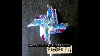 getlinkyoutube.com-Rehilete de botella Pet reciclaje fácil diamantina pinwheel plastic bottle recycling