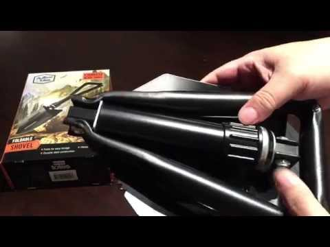 Totes black foldable travel outdoor camping shovel with serated edges review