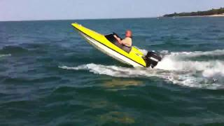 getlinkyoutube.com-9ft speedboat with 25hp in Solent