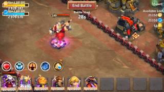 getlinkyoutube.com-Castle Clash: Expert Dungeon 7 Last portal No Spells