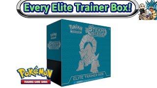 getlinkyoutube.com-Opening Every Elite Trainer Box Made - XY Steam Siege - Pokemon TCG Unboxing