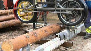 getlinkyoutube.com-Homemade bandsaw mill